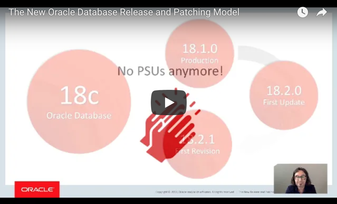 The New Oracle Database Release and Patching Model  !! By Mike